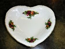 Antique Vintage Victorian Royal Doulton Albert Roses Heart Snack Love Tray Plate