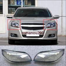 For Chevrolet Malibu 2013-2015 Left and right Headlight Headlamp Lens Cover 2pcs