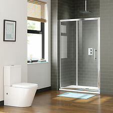 New Shower Screen Enclosure Wall to Wall Framed Sliding Door Rail Adjustable