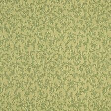 A147 Light Green Foliage And Flowers Upholstery Fabric By The Yard
