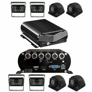 Black Box Dash Cam, 4 Camera MDVR System, 1080P, HDD Drive, GPS
