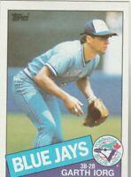 FREE SHIPPING-MINT-1985 Topps #168 Garth Iorg Blue Jays PLUS BONUS CARDS