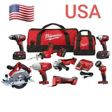 M18 18-Volt Lithium-Ion Cordless Combo Kit (8-Tool) with Three 4.0 Ah Batteries