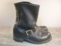 Carolina Black Leather Men's Biker Motorcycle Engineer Steel Toe Boots Size 9.5