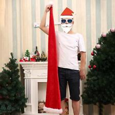 9516ecd0a66 Largo sombrero de Santa Claus Navidad Disfraz De Navidad Gorro Rojo Fiesta  Accesorio HC