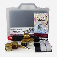 Encaustic Schellack - großes Geschenk Set mit viel Zubehör