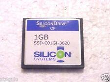 LOT 8 SiliconDrive 1GB CF  SSD-C01GI-3620 COMPACTFLASH CARD TESTED 1 GB