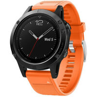 General Brand Orange Silicone Wrist Band for Garmin Fenix 5 Smartwatch