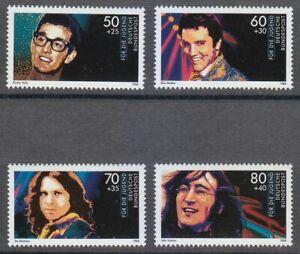 Germany 1988 MNH Mi 1360-1363 Sc B666-B669 Rock Stars.Elvis Presley.John Lennon