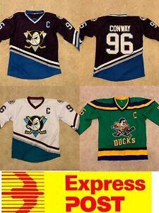 Ice Hockey Anaheim Mighty Ducks #96 Conway Jersey, AU Stock, Express Post