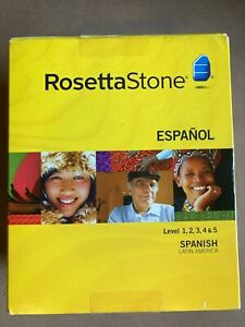 Rosetta Stone Spanish Latin America Levels 1-5 Set Version 3 w/ Activation Code