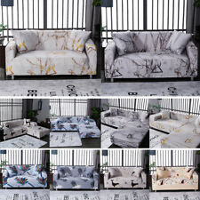Marble Pattern Elastic Chair Sofa Cover Stretch Couch Cover Slipcovers Protector