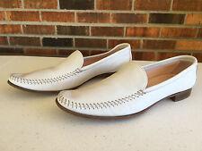 Giorgio Armani White Loafers Shoes Women's Size EU 37 & US Sz 7