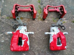 VW Golf GTI Mk5 or Mk6 rear calipers and carriers genuine VW. For rebuilding.
