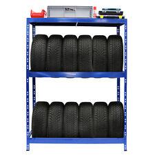Certeo 180x130x50cm Reifenregal für bis zu 12 Reifen - Blau (1001885)