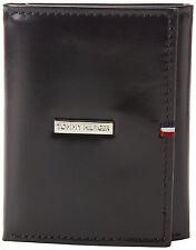 Tommy Hilfiger Men's Leather Premium Black Trifold Wallet