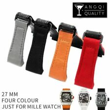 Fit for RICHARD MILLE, 27mm Waterproof Nylon Watch Band Strap with Clasp & Tool