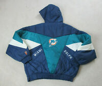 VINTAGE Miami Dolphins Jacket Adult Extra Large Green Blue Coat Football Men A1*