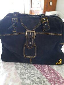 Quiksilver black cord bag. Large, roomy, adjustable shoulder straps.