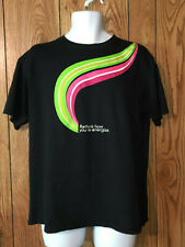 Starbucks Refreshers Black T Shirt Size large Advertising Merchandise Crew Neck