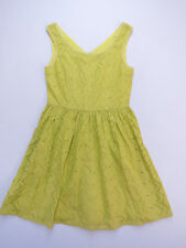 D-017 LADIES REVIVAL DARK YELLOW WASH 100% COTTON DRESS SIZE 12 AS NEW