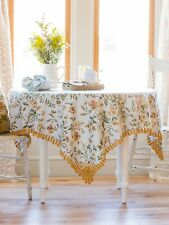 April Cornell Tablecloth Meadow Collection 54x54 NWT 100% Cotton Floral