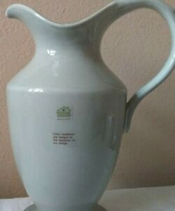 """Waterford Great Room Green Tea Water 13 1/2 """" High x 10 1/2 """" Wide Pitcher"""