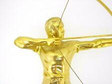 Trophy male archer archery metal figure award on onyx base 9 7/8 inches