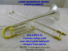 *HN White KING 1480 5B trombone 1955 CUSTOM RESTORE w or w/o F Lacquer or Silver