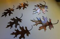METAL OAK LEAVES 6  COPPER/BRONZE PLATED BY HGMW