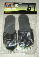 TOTALLY GHOUL WITCH FEET SANDALS FLIP FLOPS AGES 14+