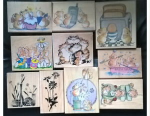 PENNY BLACK WOOD MOUNTED STAMPS 29 DESIGNS TO CHOOSE
