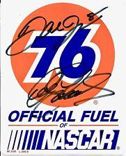 Dale Earnhardt Sr & Dale Earnhardt Jr Dual Signed 76 Gas Contingency Sticker