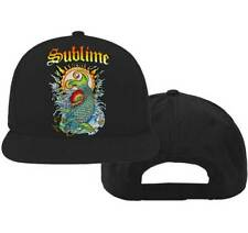 Brand New Men's Adult Sublime Koi Flatbill Snapback Adjustable Cap Hat Osfa
