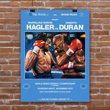 Hagler vs Duran Boxing Fight Poster Canvas Print Print Wall Decor