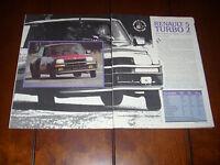 1984 RENAULT 5 TURBO  - ORIGINAL ARTICLE
