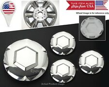 "4 x 02-07 GMC Envoy Polished Center Hub Caps Covers For 17"" 6 Spokes wheel Rim"