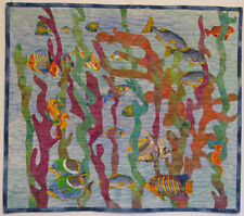 Art Quilt Handmade Wall Hanging Fish Quilted Wall Hanging HMJQuiltsPlus