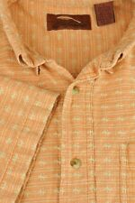 Bob Timberlake Men's Orange Barbed Striped Outdoor Cotton Shirt L Large
