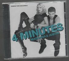MADONNA & JUSTIN 4 MINUTES CD MAX SINGOLO SINGLE cds SIGILLATO!!!