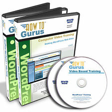 New! WordPress 4 Tutorial Training plus WordPress Projects Disk 11 hours 2 DVDs