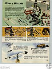 1966 PAPER AD Sans & Streiffe Power Vision Microscope 1200 X Zoom Kit Telescope