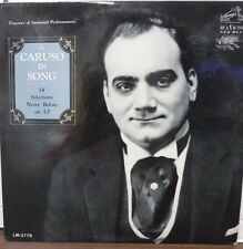 Caruso in Song Monaural LM2778 33RPM  123116LLE