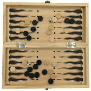 Portable Travel Game Chess Set High Graded Quality Wooden Backgammon Checker New