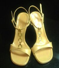 Authentic Nude Casadei High Heel T-Strap Sandals Sz 6.5