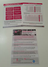Midland Metro (Birmingham) Tram Times and Safety Handbills May 2016 NEW ST extn