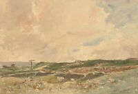 Oliver Hall RA (1869-1957) - Signed Watercolour, Norfolk Marshes