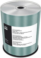 100 Mediarange Rohlinge CD-R full printable silver 80Min 700MB 52x Spindel