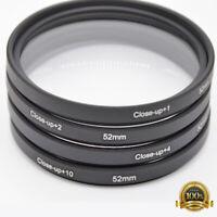 37-82mm Close Up Macro +1 +2 +4 +10 Lens Filter Kit For Nikon DE