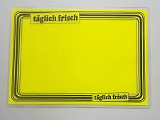 10 Preisschilder laminiert für Obst & Gemüse ca. 154 x 216 mm leuchtgelb Rand